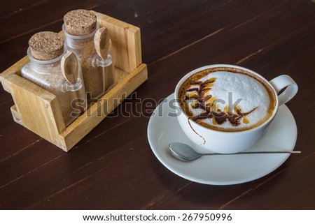 Coffee with white cup - stock photo