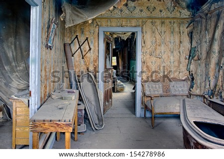 Coffin-maker's house, Bodie Ghost Town, California. - stock photo