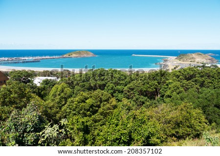 Coffs Harbor landscape in  New South Wales, Australia - stock photo