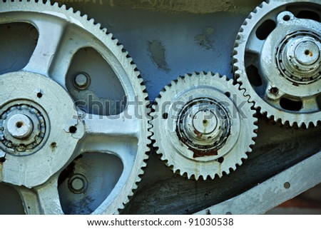 cog and gears from old machine