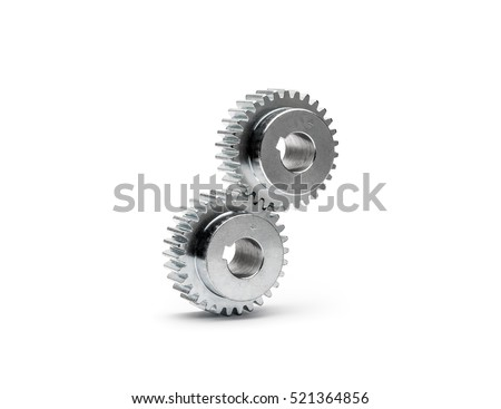Cog wheels - gears on white background