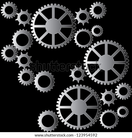 Cogs pattern background raster version - stock photo