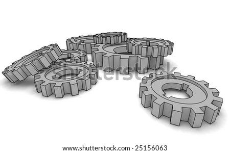 cogwheels - business network (isolated illustration)