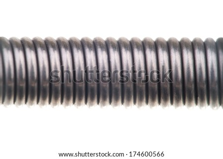 Coil spring, metal spring on an isolated background
