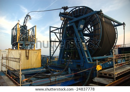 Coil Tubing on Offshore Oil Rig