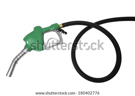 coiled gas hose  - stock photo