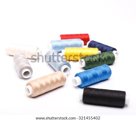 coils with threads - stock photo
