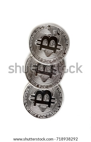 coin bitcoin on white background