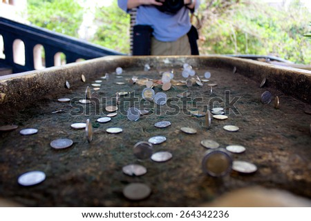 Coin Donation - stock photo