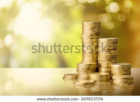 Coin, Gold, Stack.