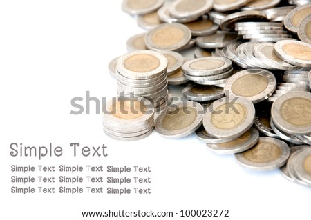 coin money /money stock thai bath - stock photo