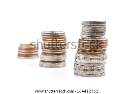 Coin on white background - stock photo