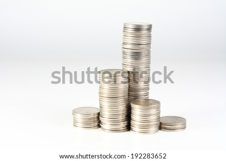 coin stack - stock photo