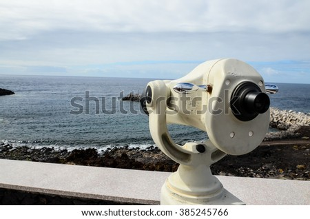 Coin Telescope - stock photo