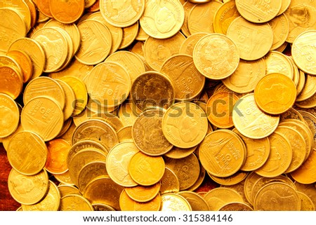 coins background. - stock photo