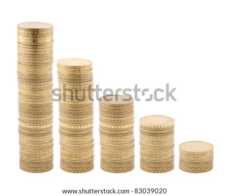 Coins diagram isolated on white