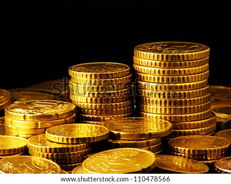 Coins. Finance system concept. - stock photo