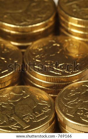 Coins in Stacks - stock photo