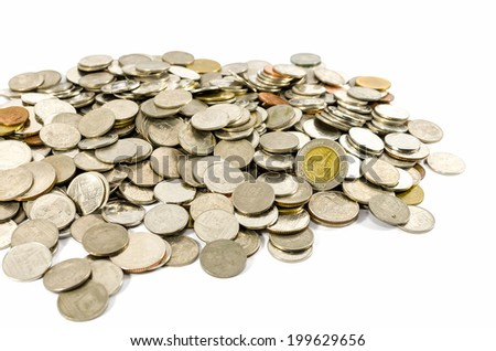 coins, isolated on white background