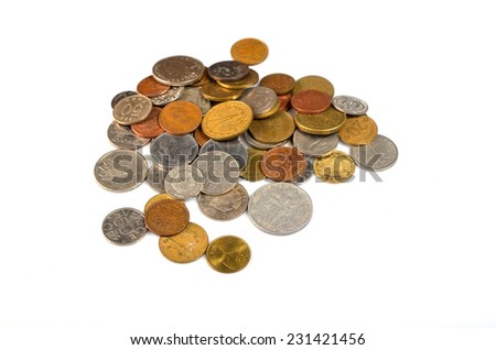 coins of the World - stock photo