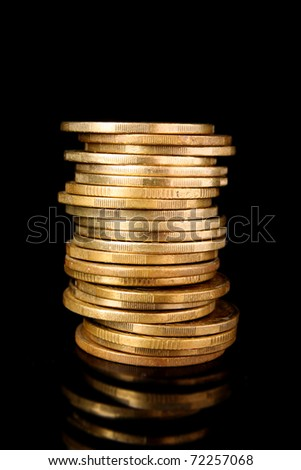 coins on black background - stock photo