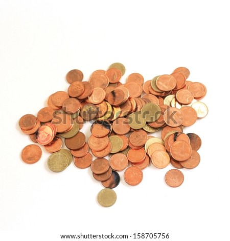 coins pile - stock photo