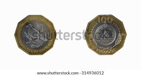 Coins Republic of Cabo Verde 100 Escudos 1994 - stock photo