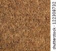 Coir natural fiber doormat. - stock photo