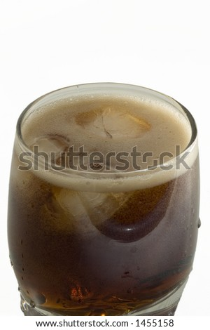 coke in the glass - stock photo