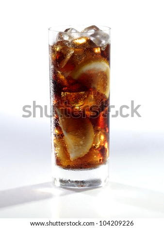 coke with ice - stock photo
