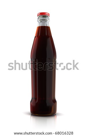 cola bottle (clipping path) - stock photo