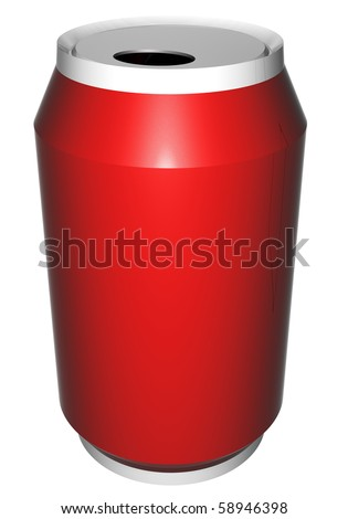Cola can ready to be labeled - stock photo