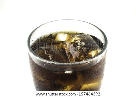 Cola close up with isolated