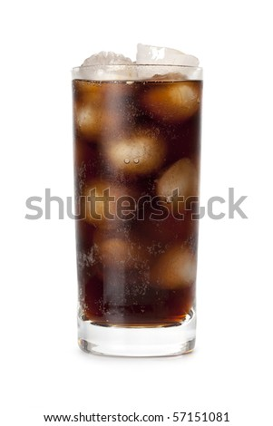 Cola - cold drink with ice - stock photo
