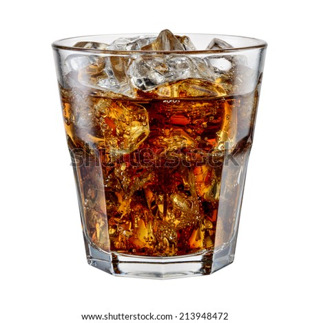 Cola isolated on white. With clipping path - stock photo