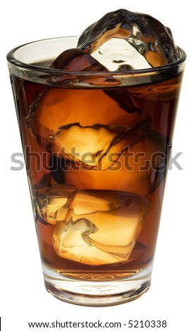 Cola; objects on white background - stock photo