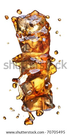 cola with ice alphabet isolated on white - stock photo