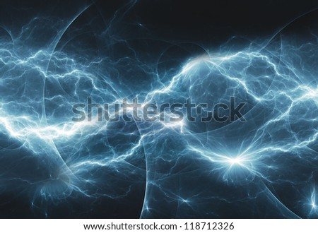 cold abstract lightning - stock photo