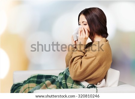 Cold and flu. - stock photo
