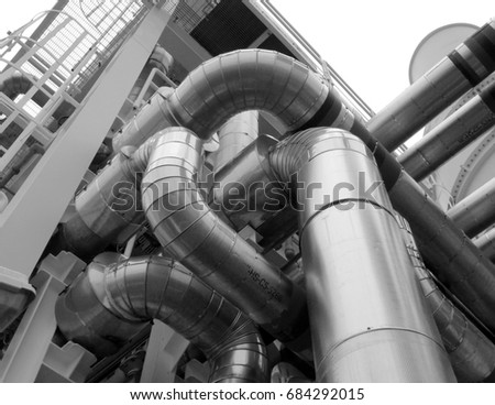 & Cold Hot Pipe Insulation On Gas Stock Photo (Edit Now)- Shutterstock