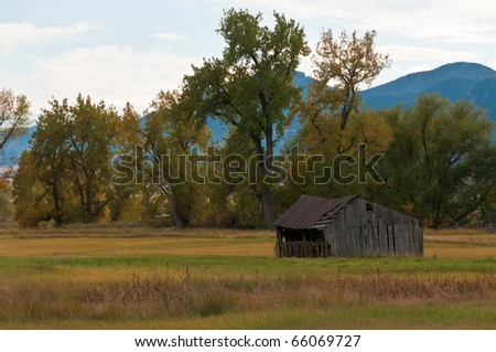 Cold Cabin Near Boulder, Colorado - stock photo