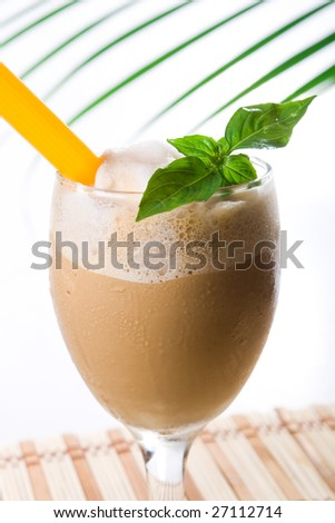 cold coffee drink - stock photo
