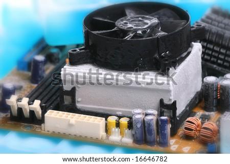 cold cpu - stock photo