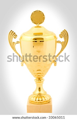 cold cup trophy - stock photo