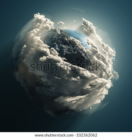cold earth - stock photo