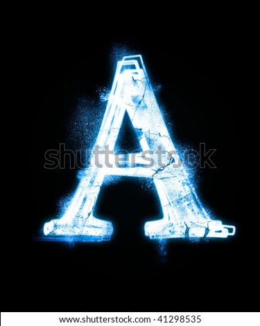 cold font from a dust. - stock photo