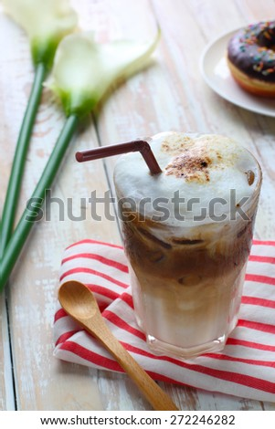 cold late coffee - stock photo