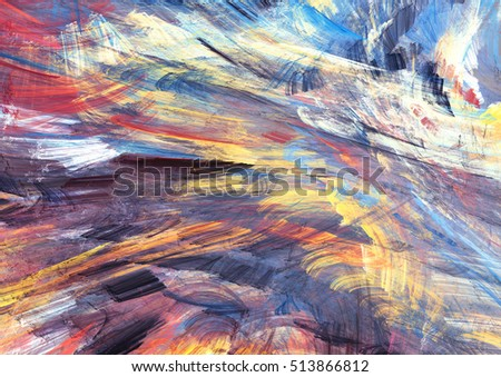 Cold multicolor winter pattern. Abstract painting soft color texture. Bright modern artistic motion background. Fractal artwork for creative graphic