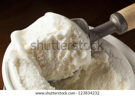 Cold Organic ice Cream against a background - stock photo