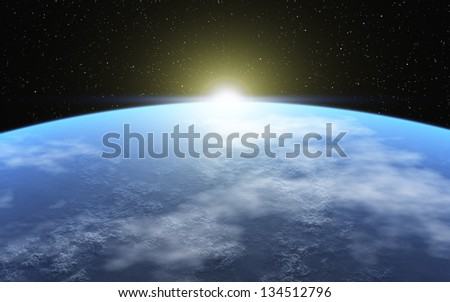 Cold Planet - stock photo